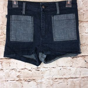 Tripp NYC Color Black Jean Shorts